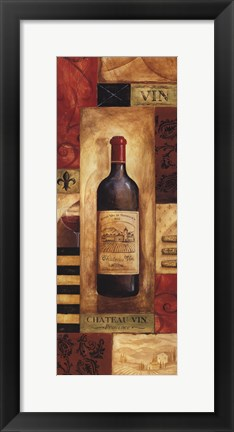 Framed Chateau Vin Panel - mini Print