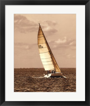 Framed Weekend Sail II Print