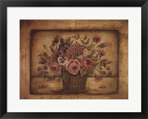 Framed Paris Bouquet II Print