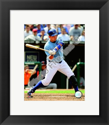 Framed Billy Butler 2008 Batting Action Print