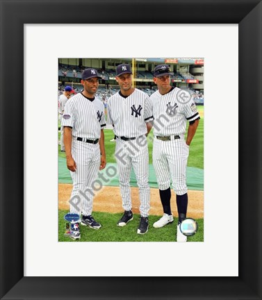 Framed Mariano Rivera, Derek Jeter, and Alex Rodriguez 2008 MLB All-Star Game Print