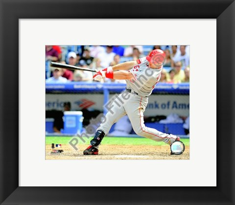 Framed Mark Teixeira 2008 Batting Action Print
