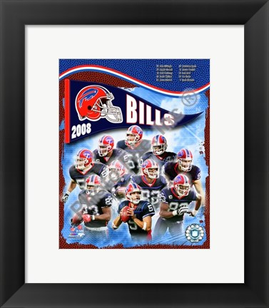 Framed 2008 Buffalo Bills Team Composite Print