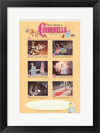 Framed Cinderella Movie Scenes Print