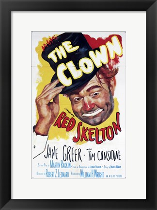 Framed Clown Print