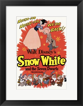 Framed Snow White and the Seven Dwarfs Heigh-Ho! Print