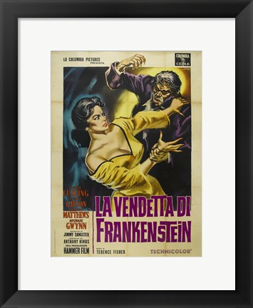 Framed Revenge of Frankenstein Print