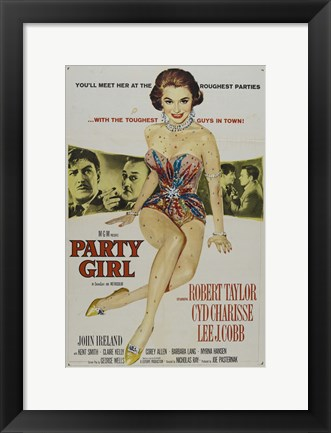 Framed Party Girl Print