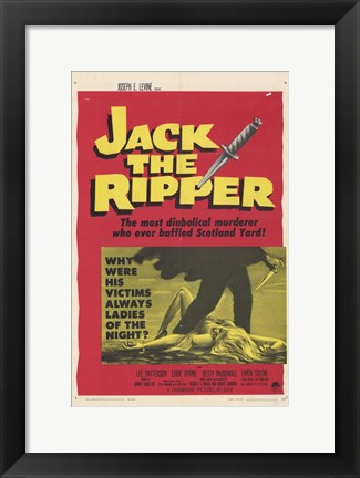 Framed Jack the Ripper Print