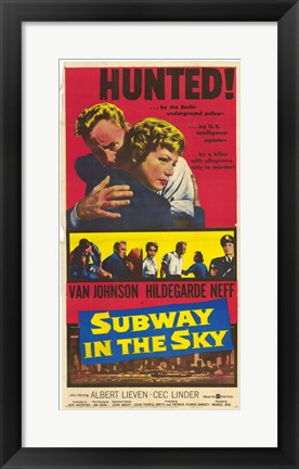 Framed Subway in the Sky Print