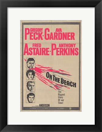 Framed On the Beach Fred Astaire Print
