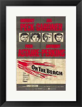 Framed On the Beach Gregory Peck Print