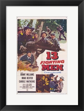 Framed 13 Fighting Men Print