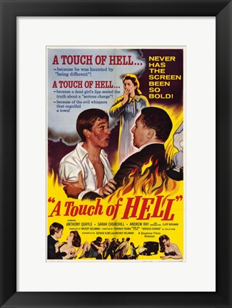 Framed Touch of Hell Movie Poster Print