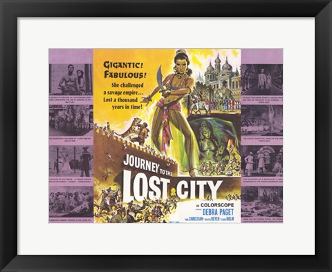 Framed Journey to the Lost City Print