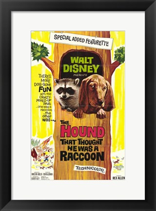 Framed Hound That Thought He Was a Racoon Print