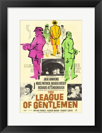 Framed League of Gentlemen Print