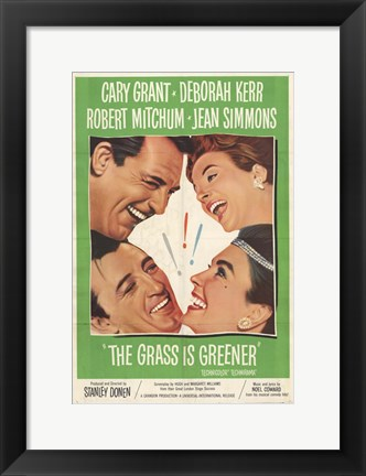 Framed Grass Is Greener movie poster Print