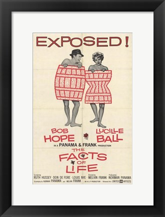 Framed Facts of Life Print