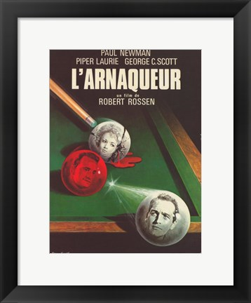 Framed Hustler French Billiards Balls Print