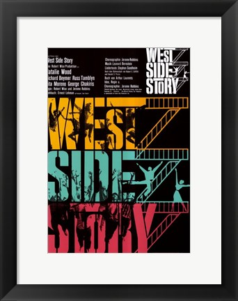 Framed West Side Story Colorful Print