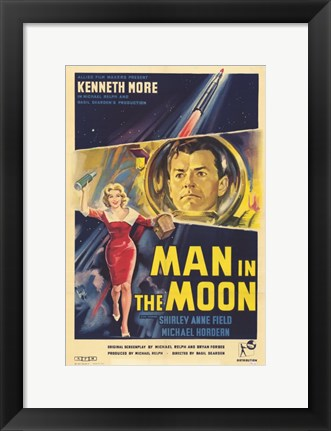 Framed Man in the Moon Print