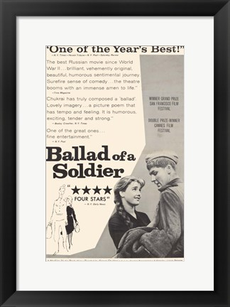 Framed Ballad of a Soldier Print