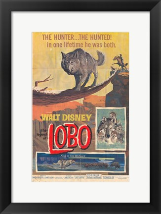 Framed Legend of Lobo Print
