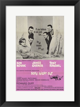 Framed Boys Night Out Print