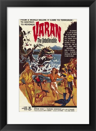 Framed Varan the Unbelievable Print