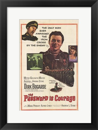 Framed Password Is Courage Print