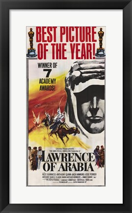 Framed Lawrence of Arabia Black and White Print