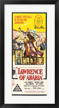 Framed Lawrence of Arabia Cast Tall Print