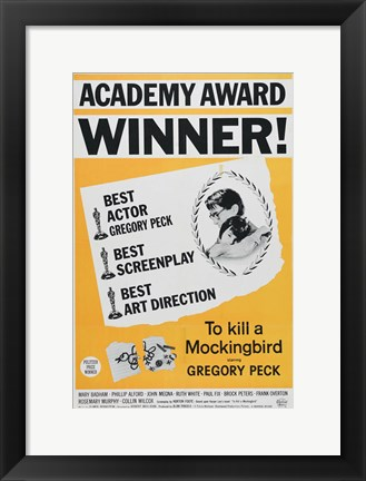 Framed To Kill a Mockingbird Academy Award Print