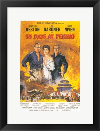 Framed 55 Days at Peking Print