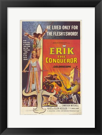 Framed Erik the Conqueror Print