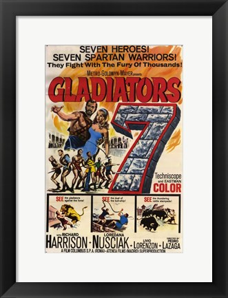 Framed Gladiators 7 Print