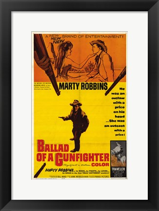 Framed Ballad of a Gunfighter Print