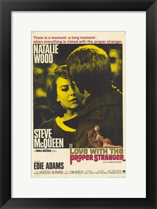 Framed Love With the Proper Stranger Natalie Wood Print
