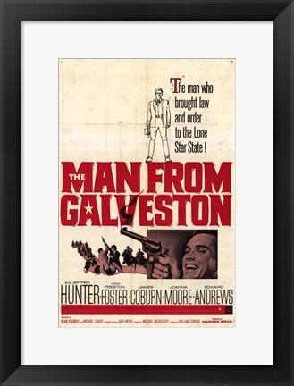 Framed Man From Galveston Print