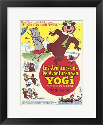 Framed Hey There It's Yogi Bear French Print