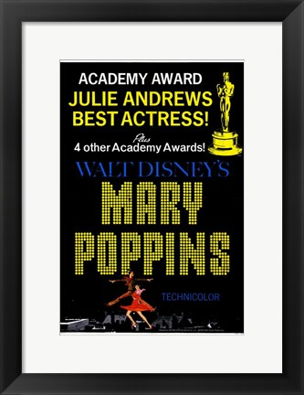 Framed Mary Poppins Best Actress! Print