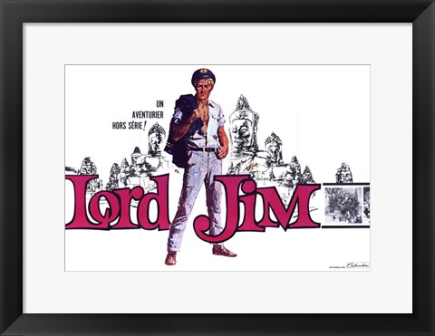 Framed Lord Jim Movie French Print