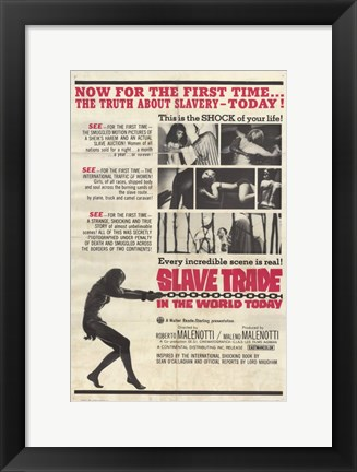 Framed Slave Trade in the World Today Print