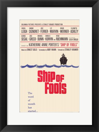 Framed Ship of Fools Print