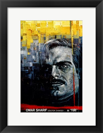 Framed Doctor Zhivago - Omar Sharif as Yuri Print