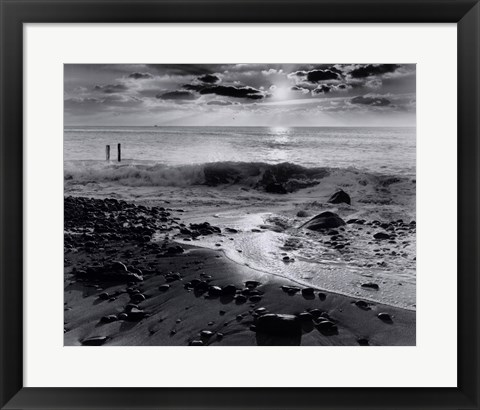 Framed Winter Sunrise at Montauk Print