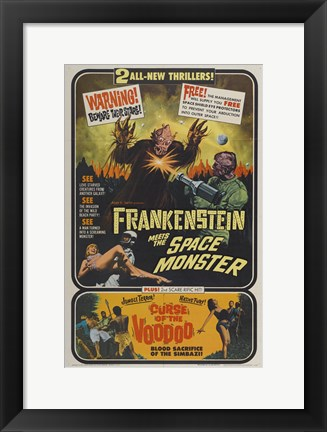 Framed Frankenstein Meets the Space Monster Print