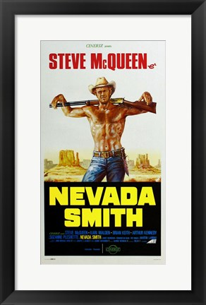Framed Nevada Smith - Steve McQueen Print
