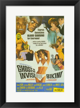 Framed Ghost In the Invisible Bikini Print